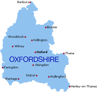 Oxfordshire-map